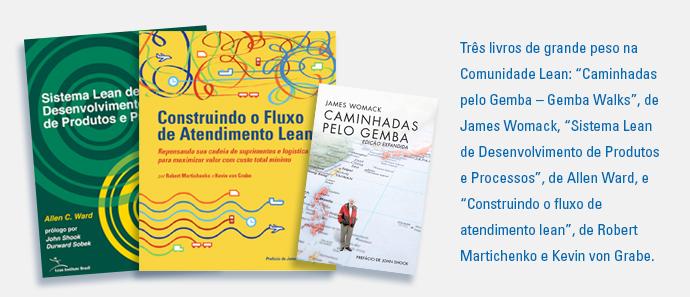 """São publicados três livros de grande peso na Comunidade Lean: """"Caminhadas pelo Gemba – Gemba Walks"""", de James Womack, """"Sistema Lean de Desenvolvimento de Produtos e Processos"""", de Allen Ward, e """"Const"""