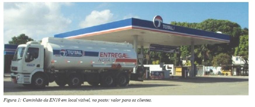 Caminhão da EN10 em local visível, no posto: valor para os clientes