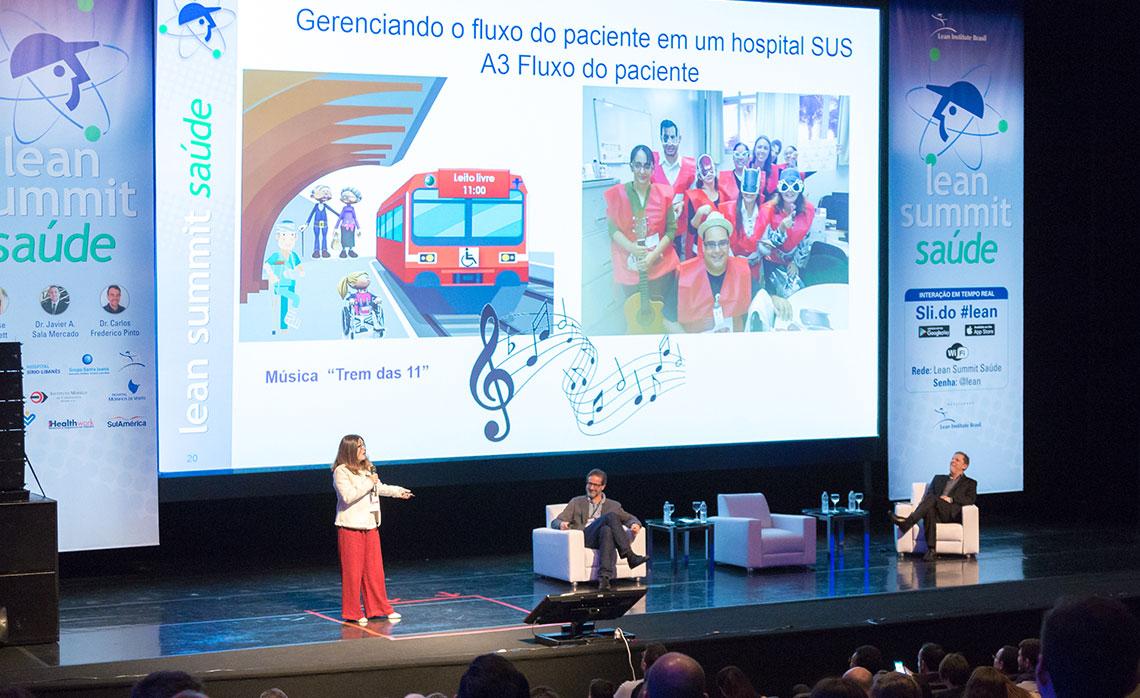 Renata Mantovani, diretora de enfermagem, e o diretor técnico Dr. Carlos Maganha, apresentaram formas de engajamento da equipe médica da SPDM, para alcançarem os objetivos propostos.