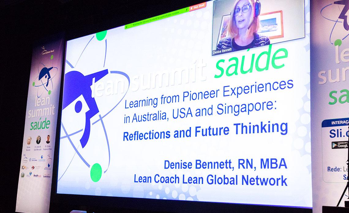 Denise Bennett, diretora do Lean Enterprise Australia, apresentou suas reflexões e experiências para projetar o futuro.