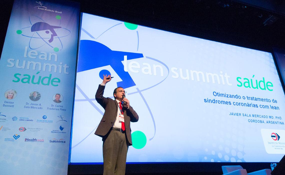 Dr. Javier Mercado, diretor do Instituto Modelo na Argentina, mostrou como conseguiu otimizar o tratamento de síndrome coronárias com o lean.